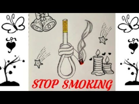 How To Draw Stop Smoking Coloring Drawing Step By Step Easy Quit Smoking Drawing Poster Youtube
