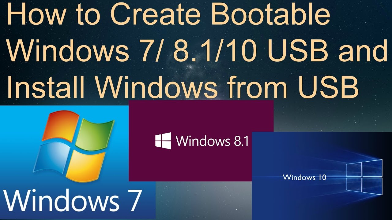 bootable usb windows 7 install