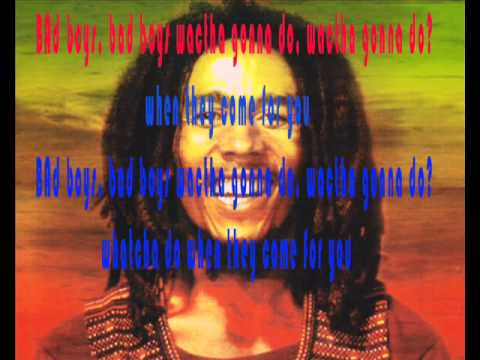 bobmarley  badboys wt lyrics