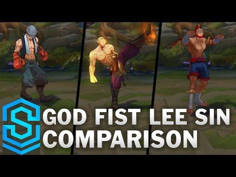 God Fist Lee Sin VS All Previous Skins | Skin Comparison