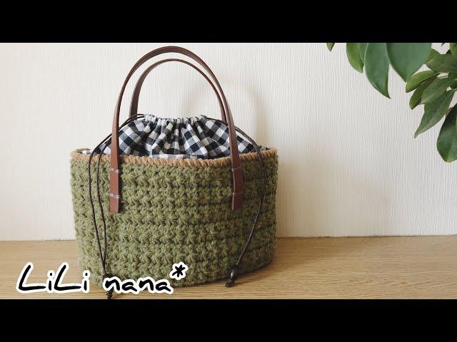 スターステッチ♪バッグの編み方②(スターステッチ部分)かぎ針編み