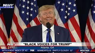 WATCH: President Trump Speaks At Blacks For Trump Event in Atlanta