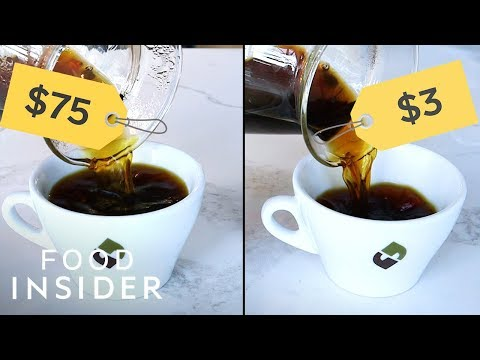 None - Would you pay $75 for a cup of coffee?