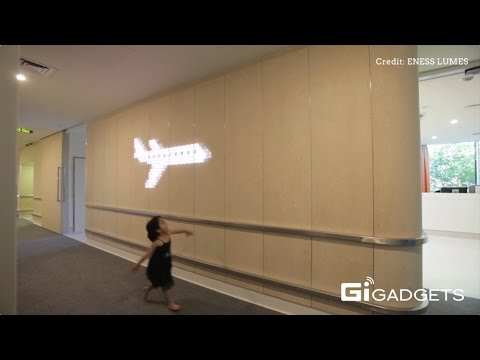 ENESS LUMES | The new interactive light emitting wall panel