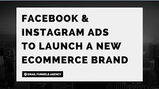 The Facebook & Instagram Ads Strategy We'll Be Using To Profitably Launch A New Ecommerce Brand