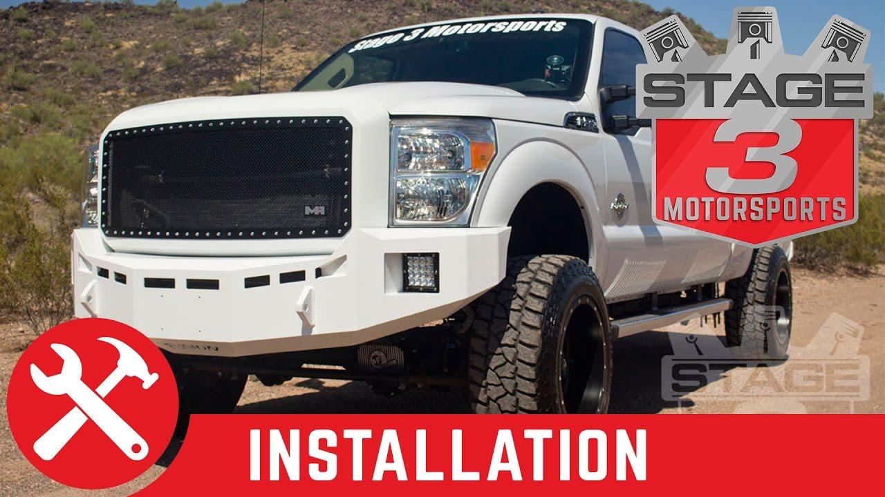 medium resolution of 2011 2014 f 250 f 350 super duty fusion front off road bumper install