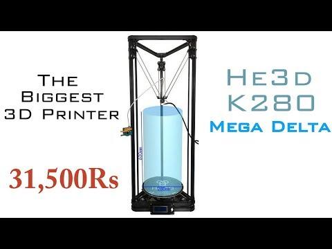 Biggest 3D printer | He3d K280 Mega Delta Detailed Review | Indian Lifehacker