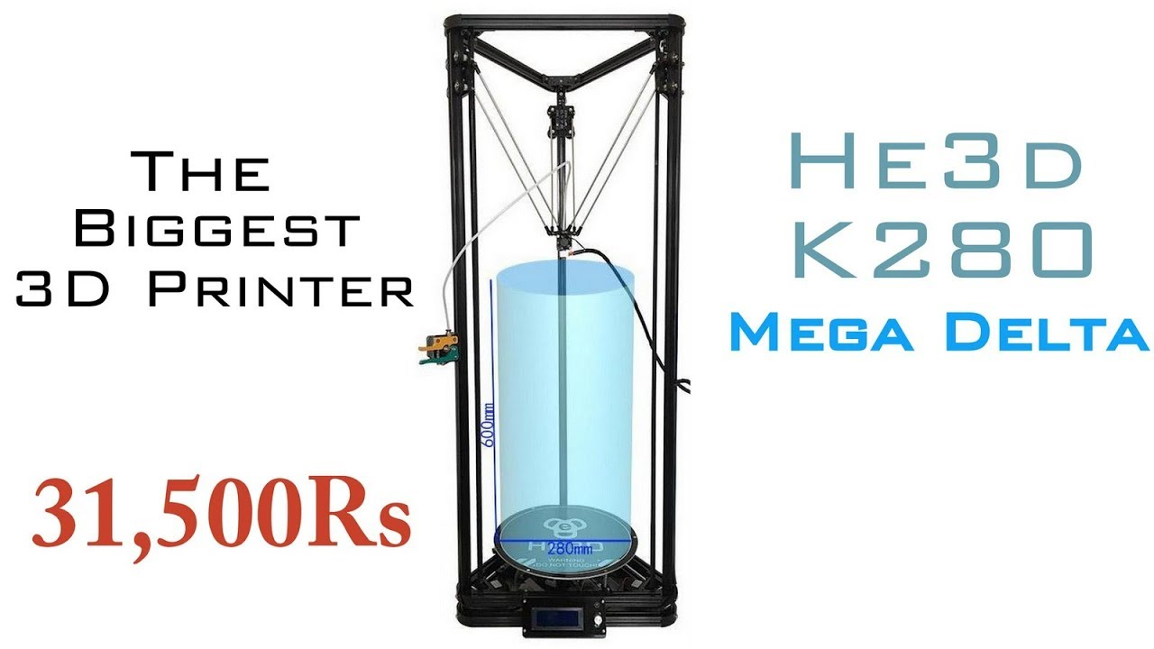 Biggest 3d Printer He3d K280 Mega Delta Detailed Review Indian We Feature A Lot Of Different Diy Electronics Projects On Lifehacker