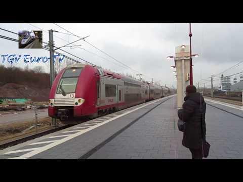 Les trains dans les gares de Howald et Pfaffenthal Kirchberg
