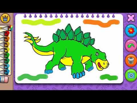 Dinozor Boyama Bebek Ve Cocuk Oyunlari Egitici Boyama Oyunlari