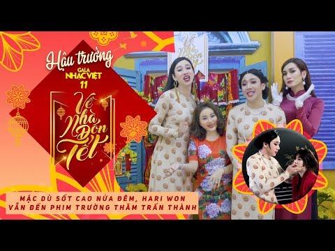 Mặc dù sốt cao nửa đêm, Hari Won vẫn đến phim trường thăm Trấn Thành | Hậu trường Gala Nhạc Việt