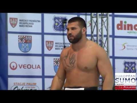 European Sumo Championship 2016: Dobromir Dermendjiev (BUL) vs Aron Rozum (POL)