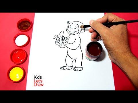 Cómo dibujar y pintar a Jorge El Curioso   Dibujos para Niños ...
