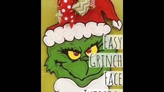 Grinch Face Tutorial ~ Door Hanger