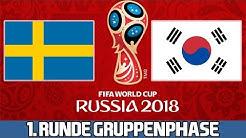 SCHWEDEN : SÜDKOREA | 1. Runde Gruppenphase | FIFA WM 2018 Prognose