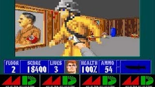 Wolfenstein 3D - Demo V.6. Sega Genesis - With Enemy Sprites, Enemy I.A. - Levels 1 & 10