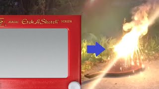 thermite from an etch a sketch yes it can be done