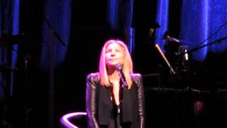 barbra streisand performing send in the clowns live on 11 8 13 lincoln center