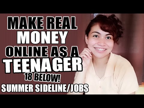 ONLINE JOBS FOR TEENAGERS 18 BELOW + MAKE REAL CASH/MONEY ONLINE + SUMMER SIDELINE