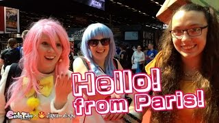 Hello! from Paris! Girlstube has just arrived at the Paris-Nord Exh...