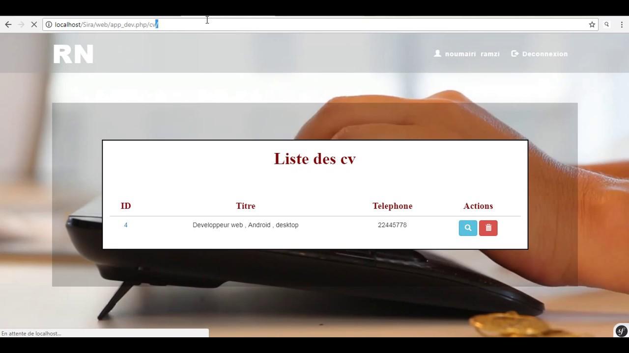 Curriculum Vitae Application With Symfony2 Framework And Angularjs