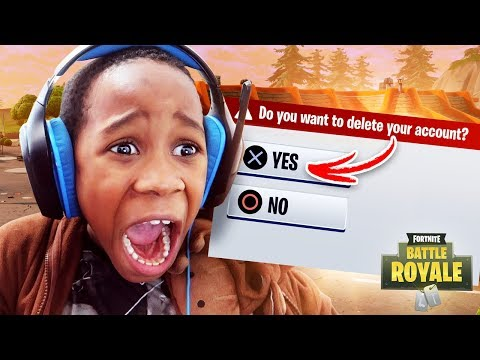 DELETING MY 9 YEAR OLD BROTHERS FORTNITE ACCOUNT (RESET)