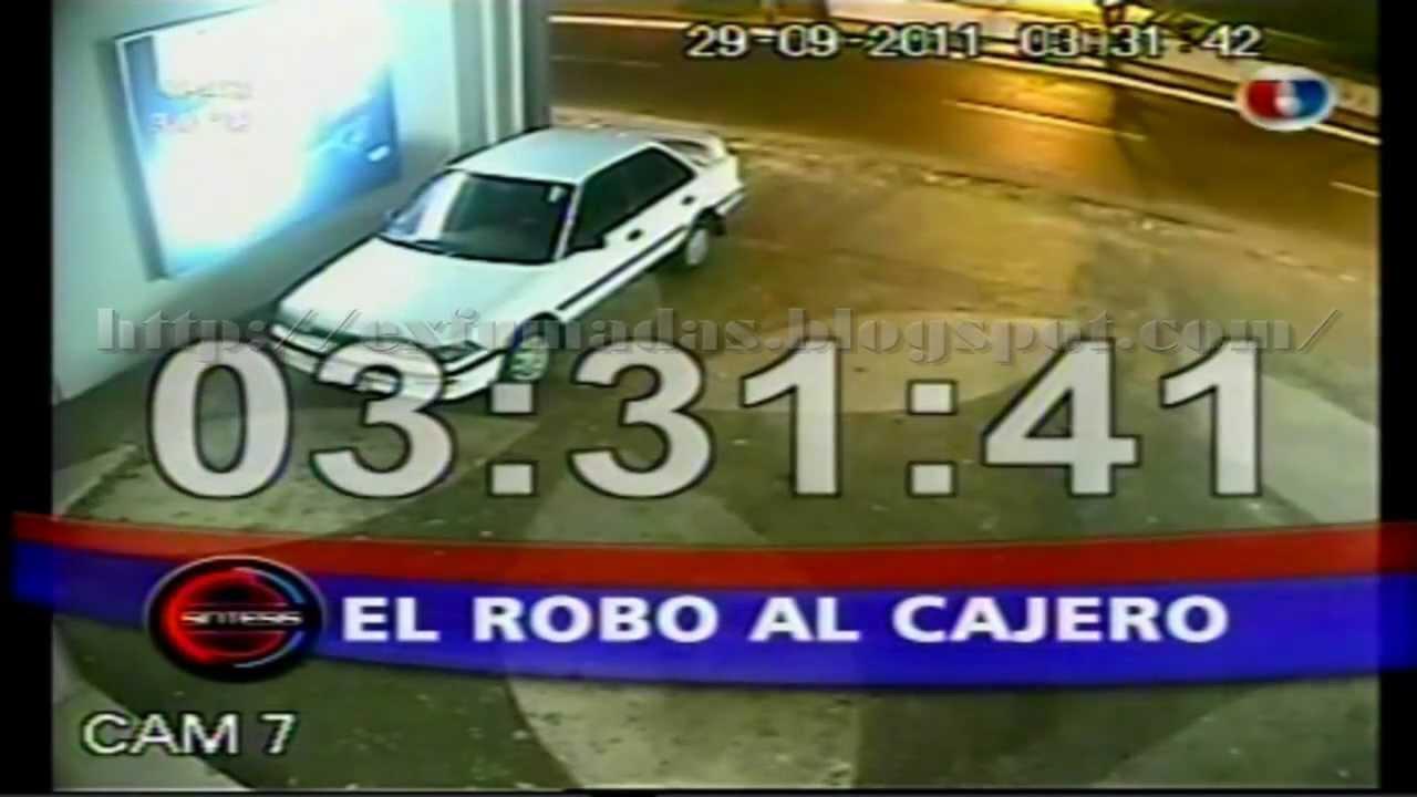 Como robar un cajero autom tico en 2 minutos y 10 segundos for Como cobrar en un cajero automatico