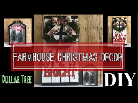 DOLLAR TREE DIY | FARMHOUSE CHRISTMAS DECOR