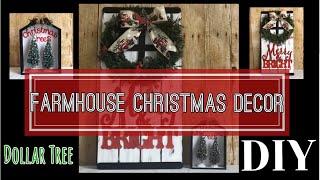 DOLLAR TREE DIY   FARMHOUSE CHRISTMAS DECOR