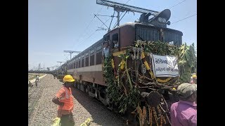Watch: Train carrying million litres of water arrives in Chennai