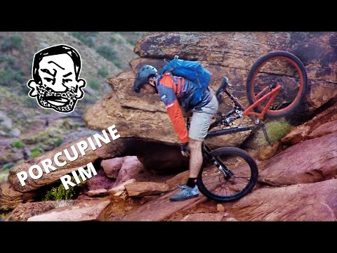 Porcupine Rim MTB trail in Moab (in the rain)