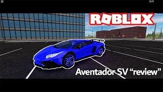 """REVIEWING"" THE LAMBORGHINI AVENTADOR SV | Roblox"