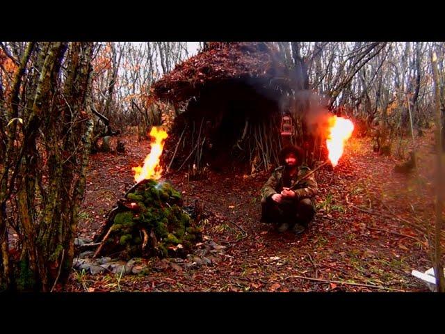 6 month in wild forest bushcraft primitive technology