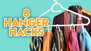 8 Amazing👕Clothes Hanger Hacks Everyone Must Know (DIY)