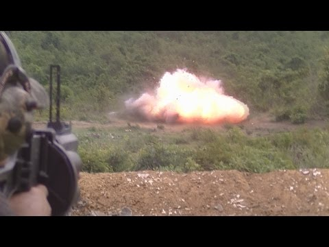 Rabbit hunting using AK47 & LG4 MGL Grenade launcher