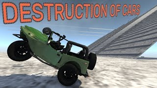 BeamNG.drive - Destruction of cars (hard)