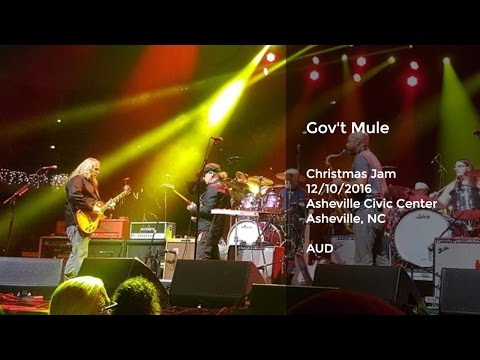 Gov't Mule Live at Christmas Jam 2016, Asheville, NC - 12/10/2016 Full Set AUD