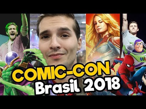 COMIC CON BRASIL 2018 Feat. Tom Holland, Brie Larson - Capitana MARVEL/ Memo Aponte