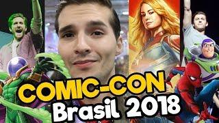 COMIC CON BRASIL 2018 feat. Tom Holland, Brie Larson - Capitana MARVEL/ Memo Aponte
