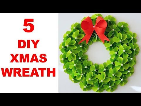 DIY Paper Christmas Wreath | Decoration Ideas for Upcoming Christmas by Julia Datta 1211