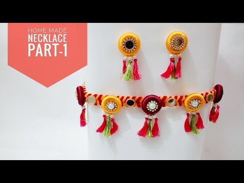 Home Made Necklace For Navaratri Part-1 |#Navaratri | Art & Creativity ❤