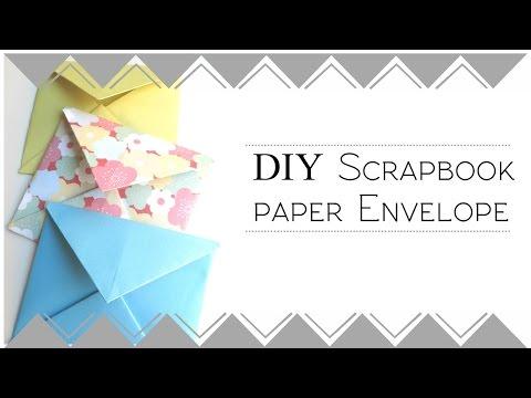 DIY Scrapbook Paper Envelopes