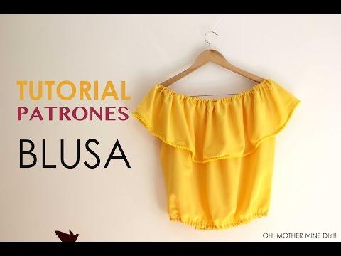f4e82a220 DIY Tutorial: Blusa sin hombros (patrones gratis) - YouTube