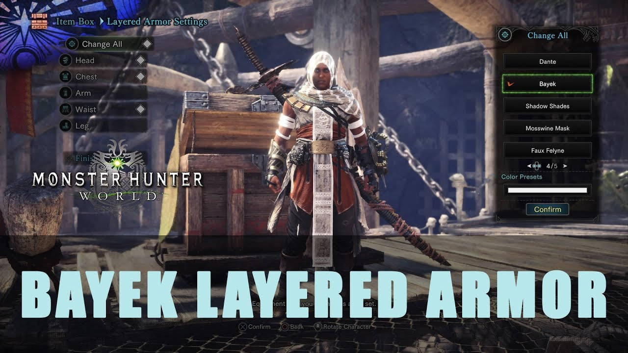 MHW: Bayek Full Layered Armor