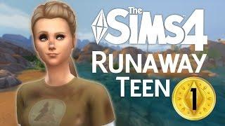 The Sims 4 Runaway Teen Challenge | Part 1 | Teenage Terror