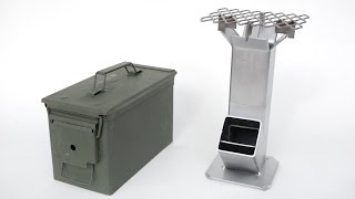 Ammo Can Rocket Stove plus Barbecue