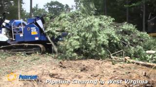 Peterson 4310 Drum Chipper on Pipeline Job