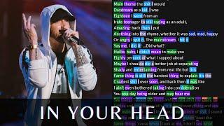 Eminem - In Your Head(2nd verse) | Lyrics, Rhymes Highlighted