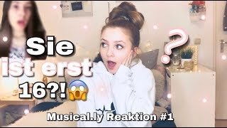Sie ist ERST 16!?😱 Musical.ly Reaktion ❤ -Alinamour