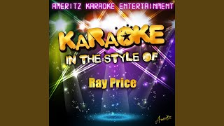 I Won't Mention It Again (In the Style of Ray Price) (Karaoke Version)